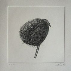 Shop: valdas.etsy.com    ORIGINAL ETCHING Bird    This etching has been made on a copper plate, inked and printed on 300g. German etching paper.    Image