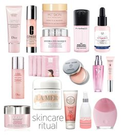 """""""Pink Panther"""" by grace-ooi ❤ liked on Polyvore featuring beauty, Christian Dior, Clinique, By Terry, Lancôme, MAC Cosmetics, FOREO, Kopari, Vichy and La Mer"""