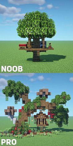 Minecraft Tree, Minecraft Garden, Minecraft Farm, Minecraft Structures, Minecraft Cottage, Cute Minecraft Houses, Minecraft Plans, Minecraft Decorations, Minecraft Construction