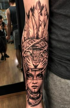 150 Tatuagens de leão Femininas e Masculinas - Top Tatuagens The Effective Pictures We Offer You About Tattoo Pattern forearm A quality picture can tell you many things. You can find the most beautifu Wolf Tattoo Sleeve, Tribal Sleeve Tattoos, Best Sleeve Tattoos, Sleeve Tattoos For Women, Tattoo Sleeve Designs, Arm Tattoos For Guys, Sleeve Tattoo For Guys, Animal Tattoos For Men, Geometric Tattoos