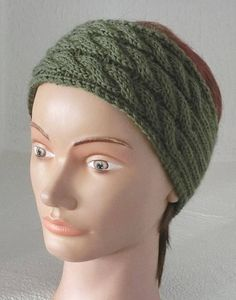 e9b5b5209553 Bandeau, Headband, serre tête, Femme, Tricoté main, torsades, irlandais,