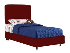 Aaron`S Full Kids Bed By Skyline Furniture In Cardinal Red Cotton $354.66 (save $260.34) + Free Shipping