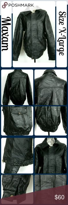 Patchwork Leather Bomber Jacket, size XL Rugged looking leather patchwork jacket. Size is XL. Excellent looking jacket with no flaws, Like new condition. ... From a smoke-free, dog friendly home, No trades!! Maxam Jackets & Coats