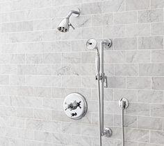 Cole Pressure Balance Handheld Shower Set #potterybarn