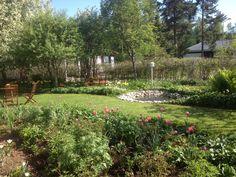 Home garden in june