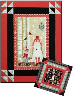Studio e - Snow Delightful - Quilt KIT + Includes Backing & Bonus PIllow! Sampler Quilts, Panel Quilts, Quilt Kits, Quilt Top, Fabric Panels, Snow, Pillows, Sewing, Holiday Decor