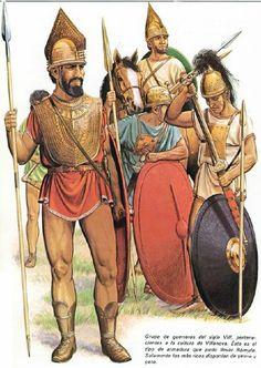 Italian warriors, Villanovan culture, 8th cent. B.C.