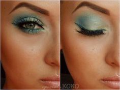 Special Koko - Make-up, beauty & fashion!: Tutorial Oceania - Mint & Blue Make-up Look