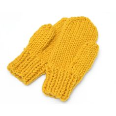 Knitted Mittens, Yellow Women's Mittens, Men's Mittens, Warm Mittens,... (1.480 RUB) ❤ liked on Polyvore featuring men's fashion, men's accessories, men's gloves, mens mittens, mens mitten gloves and mens gloves