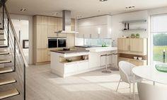 Kitchen in White and Ash IDEA - Ewe - Luxury Kitchens Maidenhead. German Kitchen Designers. Zona Cucina