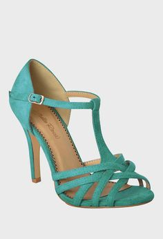 Turquoise Peep-Toe T-Strap Pump Lemay Lemay Lemay De Groof Pretty Shoes, Beautiful Shoes, Cute Shoes, Me Too Shoes, Danse Salsa, Tango Shoes, Dancing Shoes, Salsa Shoes, Zapatos Shoes