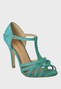Turquoise Peep-Toe T-Strap Pump Lemay Lemay Lemay De Groof Pretty Shoes, Beautiful Shoes, Cute Shoes, Me Too Shoes, Danse Salsa, Salsa Shoes, Tango Shoes, Zapatos Shoes, Pumps
