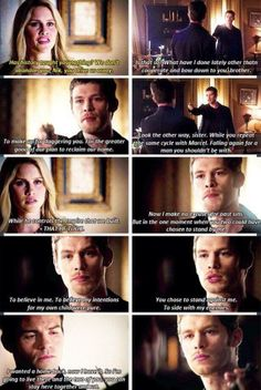 """The Originals... They both looked so broken after his speech... I was like... 'Klaus. Joseph. I lovest thou."""""""