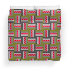 Neon Patterns Log Cabin Quilt Square