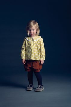 Hucklebones London... what I like...the knicker style pants, the oversized double collar and the shoes