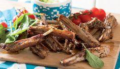 Lamb ribs with za'tar rub