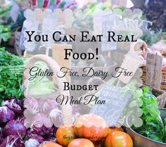 Our weekly gluten free and dairy free meal plan on a budget.