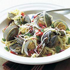 Fresh Garlic Linguine with Clams | MyRecipes.com #myplate #protein #grain