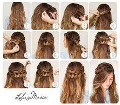 Resultado de imagem para penteados simples passo a passo para ir a escola