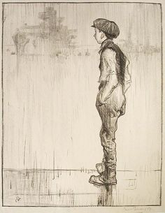 """Sir Frank Brangwyn (British, 1867-1956), """"Making Sailors: Youthful Ambition"""" from the series """"The Great War: Britain's Efforts and Ideals,"""" 1917; Indianapolis Museum of Art, Anonymous Gift, 33.11"""