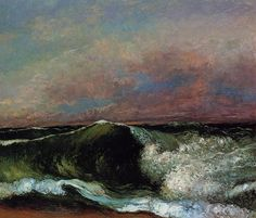 Gustave Courbet, The Wave, 1870.