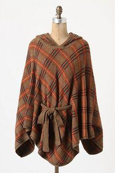 cute hooded cape/poncho