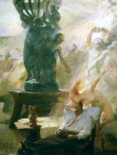 Albert-Pierre-René Maignan, Apothéose du sculpteur Carpeaux vers 1892, Huile sur toile, Musée de Soissons, Abbaye Saint Léger, Soissons