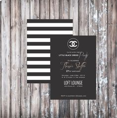 Chanel party invitations.
