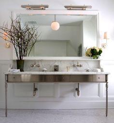 A favorite console of mine. Bath Winner: Sage Design - Connecticut Cottages & Gardens - July 2012 - Connecticut