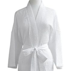5e5ab7a31d Sleepwear and Robes 166697  Luxor Linens Waffle Weave Spa Robe Made In  Turkey - White