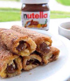 French-Toast mit Zimt und Nutella