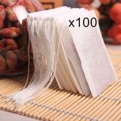 100pcs Disposable String Sealing Flower Sac Tea Bags Empty Mesh les sachets thé