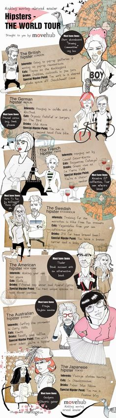 La vuelta al mundo a través de los diferentes tipos de hipsters