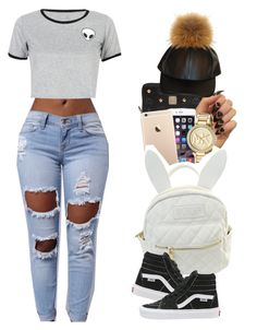 """""""...................."""" by fxrrxh ❤ liked on Polyvore featuring MCM, Michael Kors, WithChic, cutekawaii and Vans"""