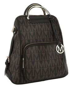 MKF Collection Chocolate Signature Satchel   zulily