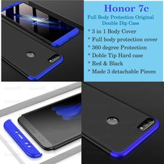 bdd70713a1f 3 in 1 360 Full Body Protection Original Double Dip Case Matte Hard Back  Case Cover