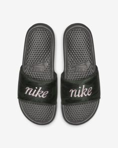 sports shoes c355c 8de1a Nike Benassi JDI TXT SE Women s Slide Nike Benassi, Women Slides,  Herringbone Pattern,