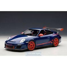 PORSCHE 911 (997) GT3 RS 3.8 (AQUA BLUE METALLIC/GUARDS RED STRIPES) 2010