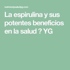 La espirulina y sus potentes beneficios en la salud ⋆ YG