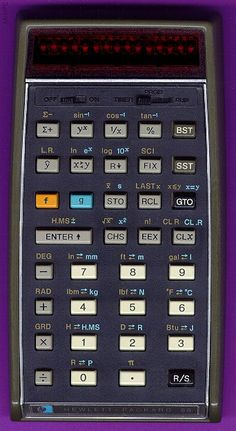 HP 55 - 55 steps of programmable memory. Volatile memory meant re-entering programs after shut down. No INT function.
