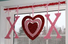 Valentine window decoration