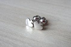 Silver Stud Earrings, Spades Studs, Spade Earrings, Everyday Jewelry, Simply Jewelry, Handmade Craft Jewelry, Minimalist Studs