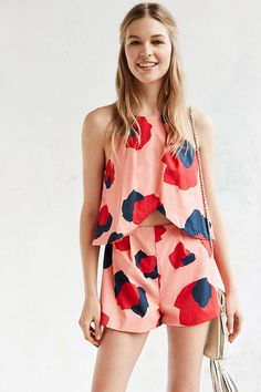 Adorable printed two-piece romper from Urban Outfitters