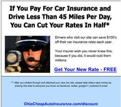 Stop overpaying for Auto Insurance in Ohio. Visit http://OhioCheapAutoInsurance.com to get car insurance at up to Half-Price.