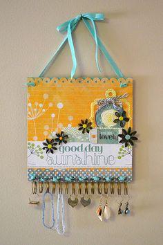 Jewelry organizer...cute idea:)