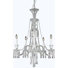 """Majestic 27"""" Crystal Chandelier with 5 Lights (8905D27)"""