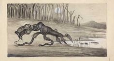 bunyip, first appeared in a newspaper in 1845, native to Australia and New Zealand
