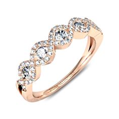 Giordana par Zeina Alliances : Alliance diamant or rose. Alliance Or Rose, Wedding Rings, Engagement Rings, Bracelets, Gold, Jewelry, Bridal Rings, Engagements, Accessories