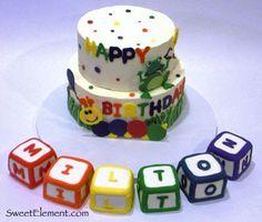 first birthday cake? - Motherhood - first birthday cake-Erster Geburtstagskuchen Abc Birthday Parties, Boys First Birthday Cake, Birthday Ideas, Abc Party, Cake Birthday, Cake Recipes From Scratch, Cake Mix Recipes, Baby Einstein Party, Cake Mix Muffins