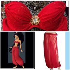 Princess Jasmine Red Slave costume rave wear by ElectricDollyShop